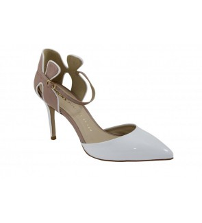 Bronx soft patent white pump