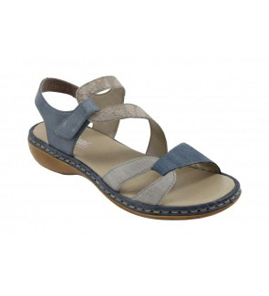 Rieker grau combi sandaal