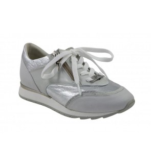 DL Sport nabuk bianco sneaker