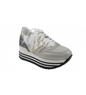 No Claim bianco oro sneaker