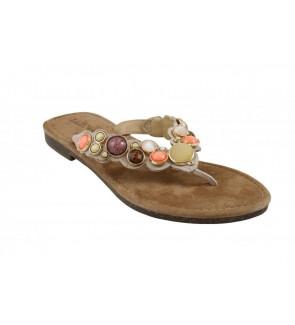 Lazamani peach slipper