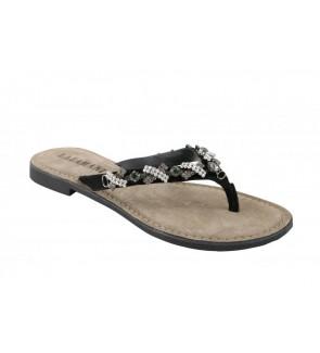 Lazamani black slipper