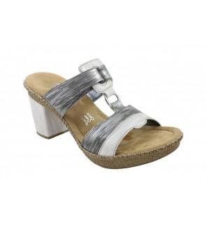 Rieker white combi slipper