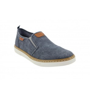 Rieker leinen navy slip on