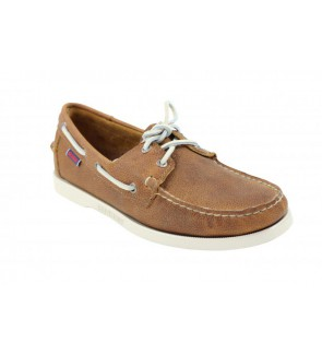 Sebago brown leather docksides