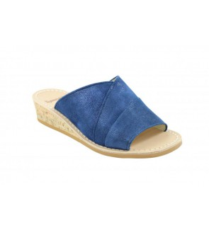 Ronny pont blu slipper