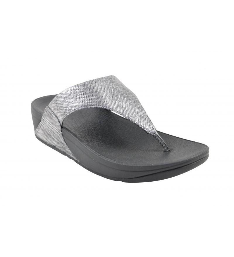81ddf843cf0 Fitflop lulu toe-thong sandals black shimmer print slipper