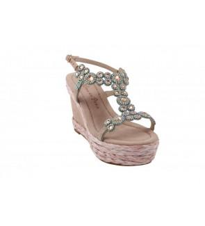 AlmaenPena suede pink sandaal