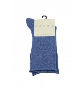 Falke shiny lichtblauw sok...