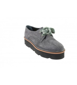 Mitica velour grey veterschoen