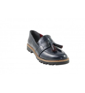Tamaris navy brush mocassin