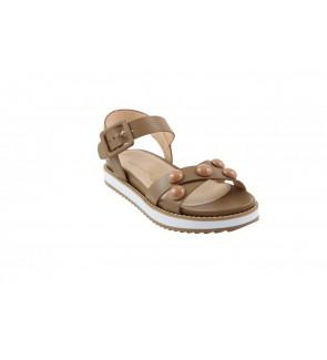 Missunique calf taupe sandaal