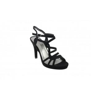 Tamaris black suede sandaal...