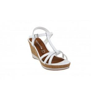 Tamaris white sandaal -...
