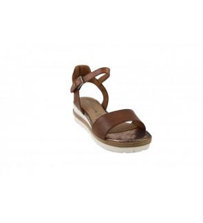 Tamaris nut leather sandaal...