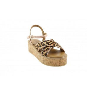 Inuovo visone leopard sandaal