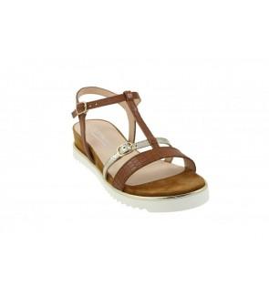 Softwaves cognac sandaal -...