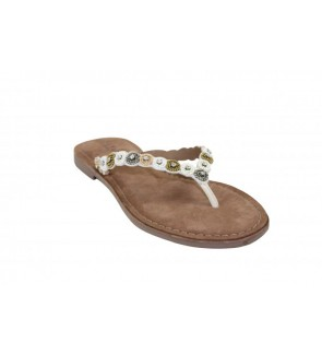 Lazamani off white slipper...