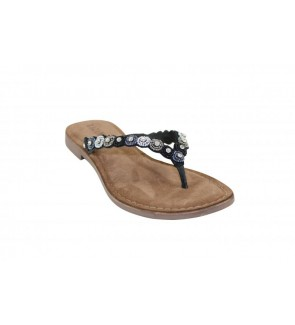 Lazamani black slipper -...