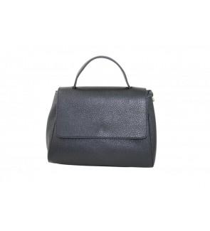 zwarte handtas in leder - 806